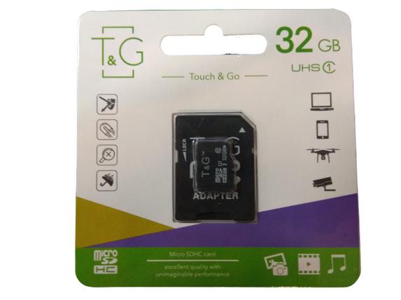 Карта памяти SD-adapter MicroSDHC UHS-I T&G 32GB, фото 2