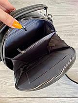 Сумочка кругляш с длинным ремешком через плечо черная женская, фото 3