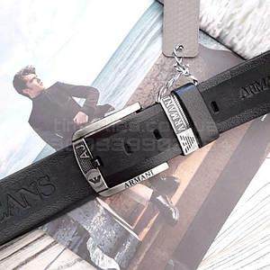 Мужской кожаный ремень Giorgio Armani Черный AAA Copy