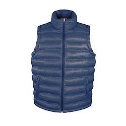 Мужская жилетка теплая темно-синяя R193-32