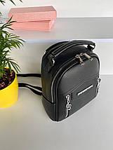 Женская городская сумка-рюкзак , Michael Коrs,на молнии .Чёрный, фото 3