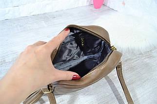 Сумка крос-боді Eric Style з пензликом і ремінцем через плече коричнева жіноча, фото 2