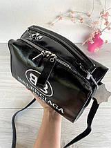 Сумка Balenciaga Nice с длинным ремешком из натуральной кожи черная женская, фото 2