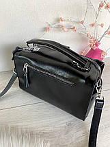 Сумка Balenciaga Nice с длинным ремешком из натуральной кожи черная женская, фото 3