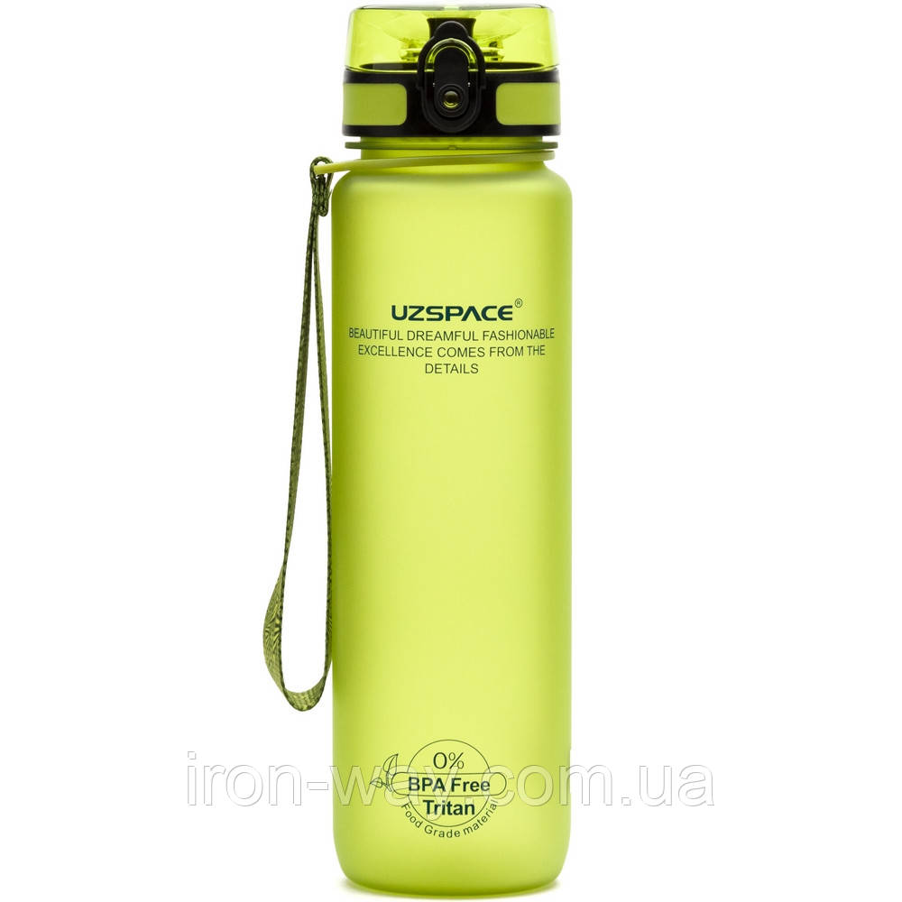 Пляшка для води Uzspace Colorful Frosted-Tritan 500мл Салатова 3026