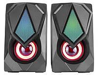 Комп'ютерні колонки XTRIKE ME RGB Backlight SK-402 з підсвічуванням, чорні