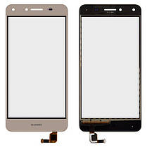 Сенсор (Тачскрін ) Huawei Y5 II (CUN-L21, CUN-U29) золотий, фото 2