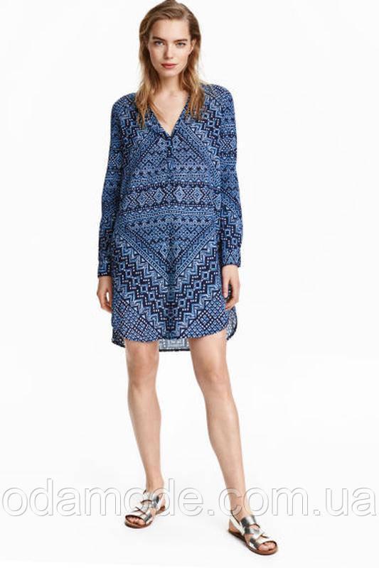 Платье-туника женская синяя h&m