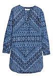 Платье-туника женская синяя h&m, фото 3