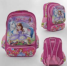 Рюкзак школьный 1 отделение, 3 кармана, 3D принт, мягкая спинка, в пакете
