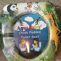 Накладка мягкая, вставка детская, сиденье для унитаза Украина Aqua Fairy Панда, фото 1