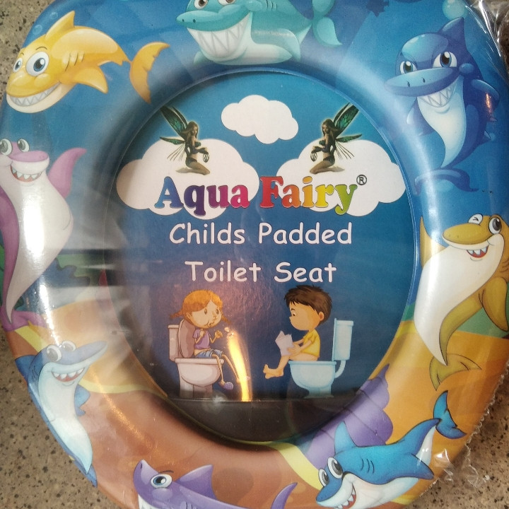 Накладка мягкая, вставка детская, сиденье для унитаза Украина Aqua Fairy Веселые акулы