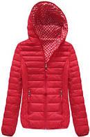Женская красная куртка весенняя осенняя двухсторонняя