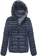 Женская синяя куртка весенняя осенняя двухсторонняя