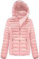 Женская розовая куртка весенняя осенняя двухсторонняя