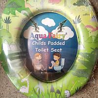 Накладка мягкая, вставка детская, сиденье для унитаза Украина Aqua Fairy Дино, фото 1