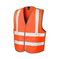 Мужская жилетка светоотражающая оранжевая 201-44