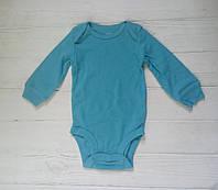 Боди с длинным рукавом Carters 3M голубой, фото 1
