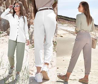 Широкие брюки-бананы с отрезным бочком /разные цвета, S-XL, SEV-1388.4228