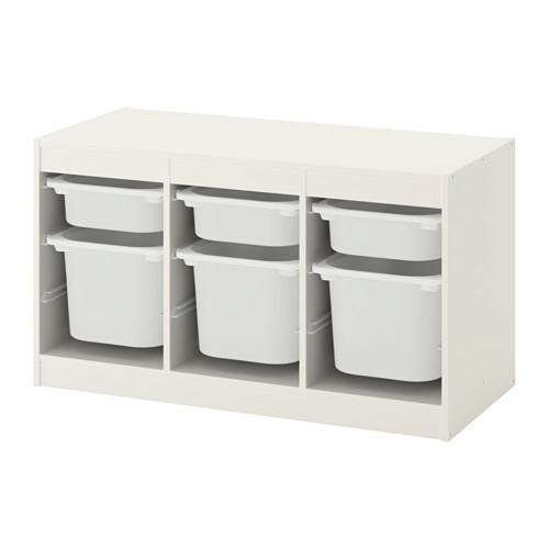 Комбинация д/хранения+контейнерами, белый, белый, 99x56 см IKEA TROFAST 692.284.73