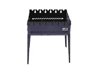 Мангал чемодан на 6 шампуров Складной из черного металла