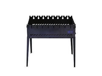 Мангал чемодан на 8 шампуров Складной из черного металла
