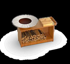 Профессиональный гриль-мангал Holla Grill Rust Wide барбекю с большой открытой тумбой