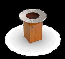 Гриль мангал Holla Grill Original Rust барбекю с закрытой тумбой
