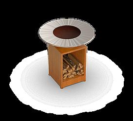 Гриль мангал Holla Grill Open Rust барбекю с открытой тумбой