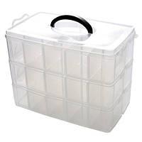 Коробка органайзер кейс для снастей бисера 310х170х235мм 3 уровня 30 ячеек