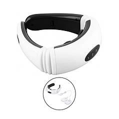 Импульсный миостимулятор массажер для шеи Neck Massager KL-5830 White 3 режима электротерапия