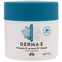 Крем для сухой кожи с витамином Е, Vitamin E 12,000 IU Creme, Derma E,(113 г)