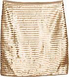 Юбка в золотистых пайетках  h&m, фото 3