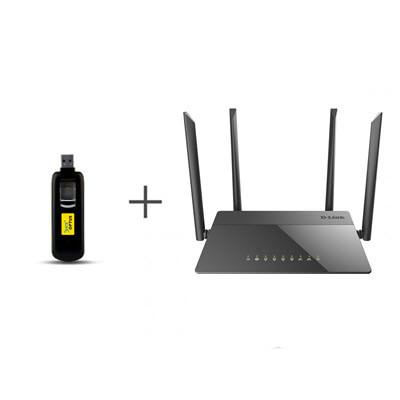 Комплект для 4G/3G интернета Huawei E3276s-601 + D-Link DIR-815