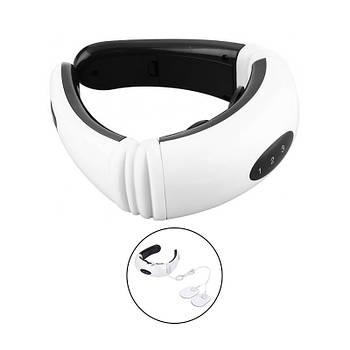 Импульсный массажер для шеи Neck Massager KL-5830 аккумуляторный с 3 режимами миостимулятор