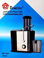 Соковыжималка Domotec MS 5221 (1000 Вт), соковижималка для кухни, соковыжималка для дома, кухонная