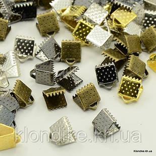 Концевики Зажимы для Лент, Железные, 6×6×5 мм, Цвет: Микс (50 шт.)