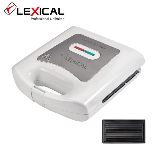 Электрическая сэндвичница LEXICAL LSM-2502 / 800W / Антипригарное покрытие