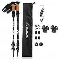 Треккинговые палки USA черные Туристические палки для ходьбы трекинговые Трекінгові палиці для ходьби AL7075