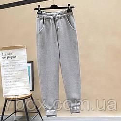 Спортивные женские штаны с биркой оптом. Украина Серый 5шт