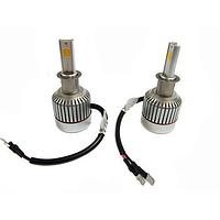 Автомобильные светодиодные LED лампы UKC Car Led Headlight H3 33W 3000LM 4500-5, Ксенон