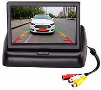 Складной автомобильный монитор 5'', автомобильная камера парковочная, автомобильная камера с монитором,