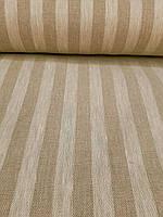 Льняная плотная ткань в полоску (шир. 150 см), фото 1