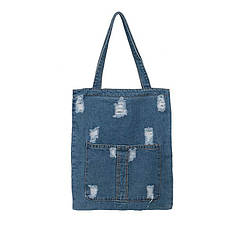 Сумка женская джинсовая на плечо синего цвета