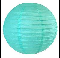 Бумажный шар-фонарь бирюзовый 30см 15144