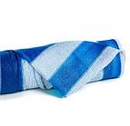 Сетка затеняющая KARATZIS 65% 2мх50м, 100м.кв. Бело-голубая в полоску