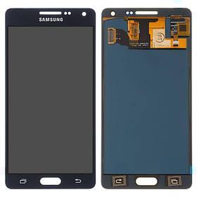 Дисплей (екран) для Samsung A500 Galaxy A5 з сенсором (тачскріном) черный з регулюванням (TFT)