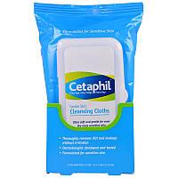 Cetaphil, Мягкие очищающие салфетки, 25 влажных салфеток, 5.0 x 7.9 (12 x 20 см)