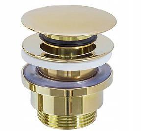 Пробка для раковины (умывальника) REA KLIK-KLAK L.GOLD, фото 2
