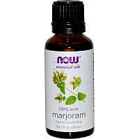 Эфирное масло душицы (Marjoram Oil), Now Foods, 30 мл